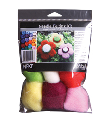ashford felting needle beginners kit flower