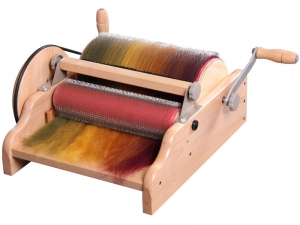 ashford extra wide drum carder with fiber batt