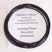 black spinning wheel belt