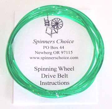 emerald spinning wheel belt