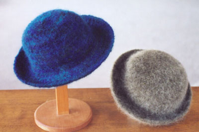 Felted Hat Knitting Pattern : Knitting Patterns for Accessories - Fiber Trends Knitting Patterns