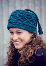 Braids and Bobbles hat knitting pattern