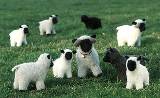 a felted flock - felt sheep pattern - felt animal pattern