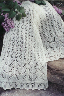 Estonian Garden Lace Shawl pattern - Fiber Trends knitting pattern