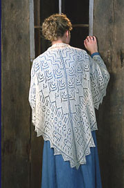 sheep shawl lace knitting pattern - fiber trends pattern