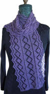 Diamanten Lace Scarf Fiber Dreams Knitting Patterns