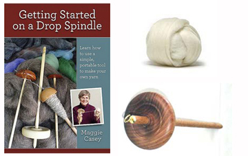 learn to spin with this dvd drop spindle kit