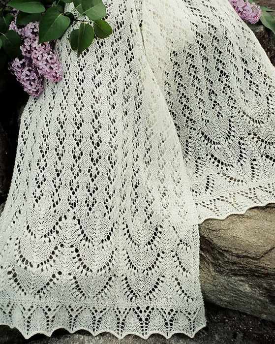 Free Estonian Lace Knitting Patterns : Lace Knitting Patterns - Knitted Lace Shawls and Scarves
