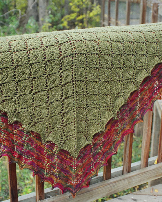 Leaf Lace Scarf Knitting Pattern : Lace Knitting Patterns Pacific Wool and Fiber