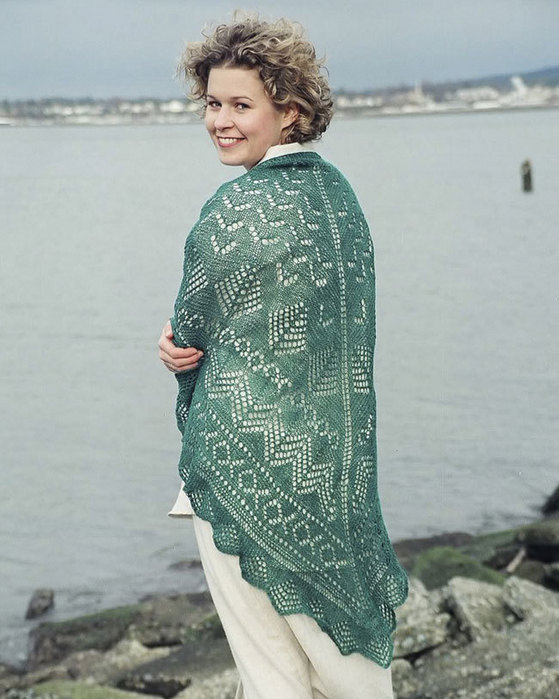 Lace knitting patterns pacific wool and fiber pacific northwest shawl knitting pattern fiber trends knitting patterns dt1010fo