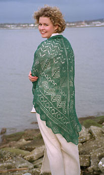 Pacific Northwest Shawl knitting pattern - Fiber Trends Knitting Patterns