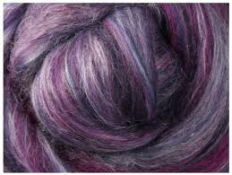Black Currant merino-silk fiber