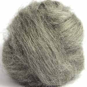 grey gotland wool top for spinning and felting