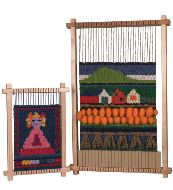 ashford weaving frame with tapestry