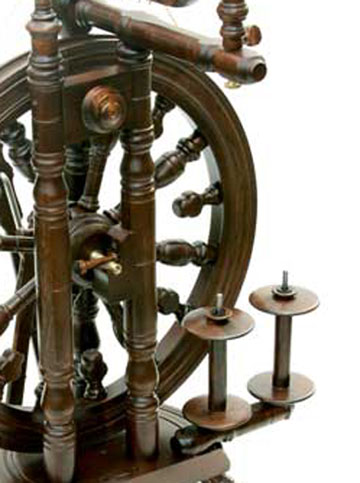kromski minstrels spinning wheel detail