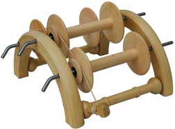 kromski arched lazy kate with spinning wheel bobbins