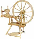 Kromski Polnaise spinning wheel clear finish