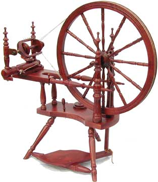 kromski polonaise spinning wheel mahogany finish