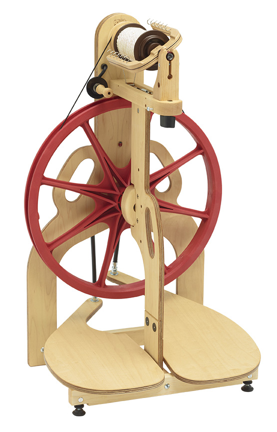 schacht ladybug double treadle spinning wheel